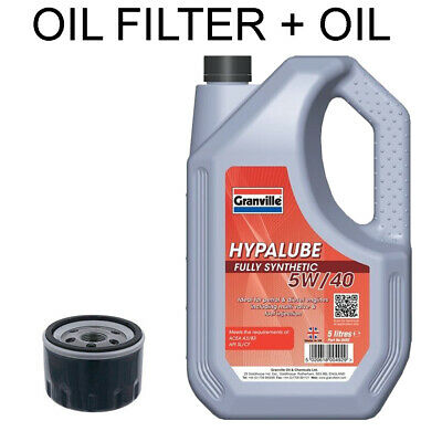 1.6 Petrol Dacia Duster 2010 Onwards Oil Filter 5w40 Fully Synthetic Oil • 33.95£