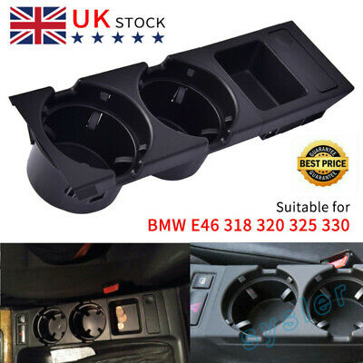 Center Console  Cup Holder Black Cup Holder Coin Storage Tray For E46 325 330 L/ • 13.49£