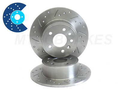 SIERRA RS COSWORTH Drilled Grooved Brake Discs Rear 2wd • 69.99£
