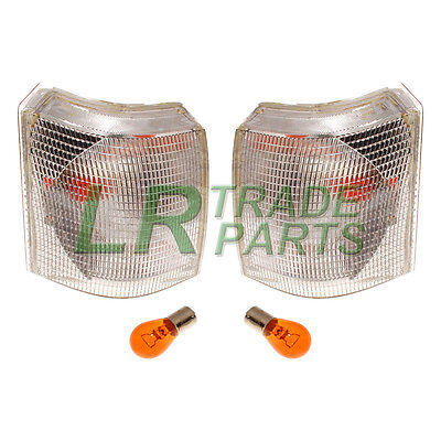 Range Rover P38 New Front Clear Indicator Lights Lamps Pair (x2) Lamp Set +bulbs • 31.95£
