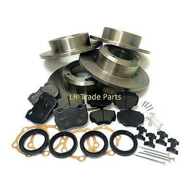 Land Rover Discovery 1 200tdi 300tdi Front & Rear Solid Brake Discs & Pads Kit • 104.95£