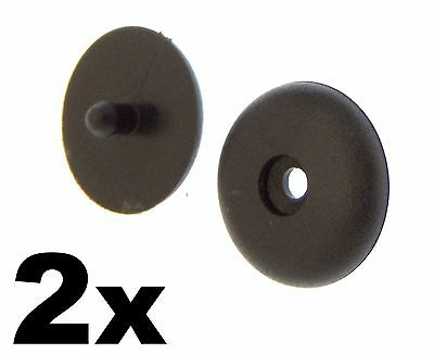 2x Universal Seat Belt Buckle Buttons- Holders Studs Retainer Stopper Rest • 2.19£