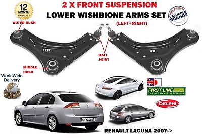 For Renault Laguna All 2007--> 2x Front Axle Lower Wihsbone Suspension Arm Set • 92.49£