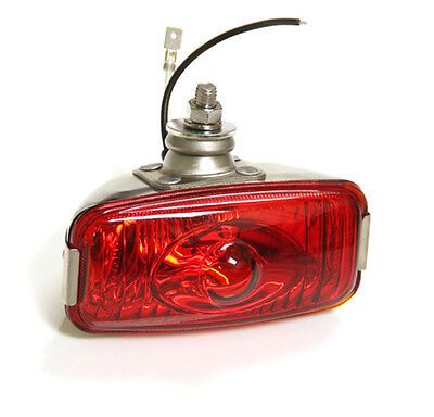 CLASSIC CAR RETRO REAR STAINLESS RED FOG LAMP LIGHT 12v FORD MINI GLASS Y3278 • 23.95£