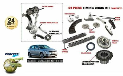 For Kia Ceed 1.6dt Crdi D4fb  2006-2012 New Timing Chain + Gears + Sprocket Kit  • 99.95£