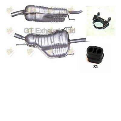 For Vauxhall Zafira 1.6i 16v MPV 2003-2005 Rear Exhaust &Tail Pipe + Fitting Kit • 41.25£