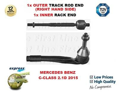 For Mercedes Benz C-class 2.1d 2015 1x Rhs Track Rod End + 1x Inner Rack End • 35.95£
