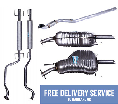 For Vauxhall Astra G Zafira Complete Exhaust System Rear Centre &Front +Fittings • 109.99£
