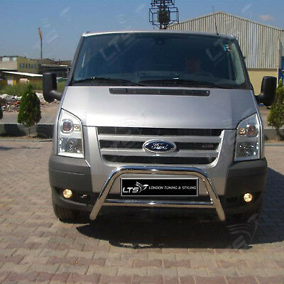 Ford Transit Chrome Nudge A-bar Stainless Steel Bull Bar 2003- 2013 W K • 169.99£