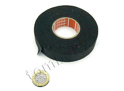 TESA 51026 Smooth PET Cloth Car Wire Loom Harness Tape Oil Fuel Heat Resistant • 6.99£