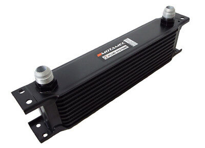 Motamec Oil Cooler 10 Row - 235mm Matrix - 10 AN JIC - Black Alloy • 36.95£