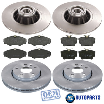 For Renault - Trafic 2001-2014 Front And Rear Brake Discs And Pads W/ ABS Rings • 137.29£