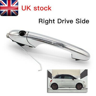 Genuine Fiat 500 Offside Right Driver Side Chrome Outer Door Handle 735592012 UK • 17.99£