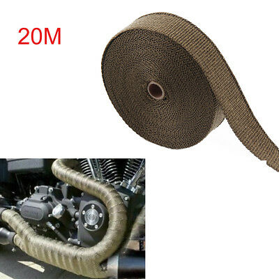 20M Titanium Exhaust Heat Wrap Manifold Downpipe High Temp Bandage Tape Roll • 11.99£