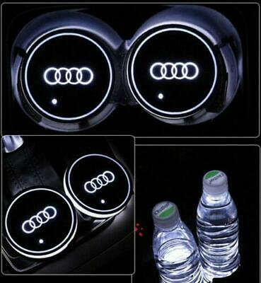 2PCS For Audi LED Car Cup Holder Pad Mat Automobiles Interior Atmosphere Lights • 12.99£