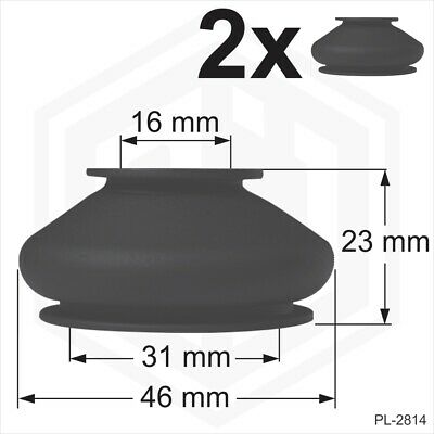 Rubber Ball Joint Dust Cover Universal 2 X 16/31/23 Boots Track Rod End Car Van • 3.89£
