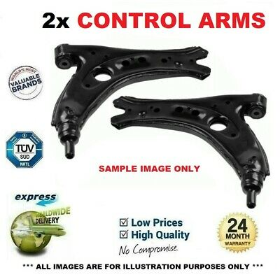 2x Front Lower CONTROL ARMS For VW GOLF V 2.0 GTI 2004-2009 • 138.95£