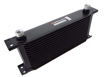 Motamec Oil Cooler 13 Row - 235mm Matrix - 1/2 BSP - Black Alloy • 39.95£