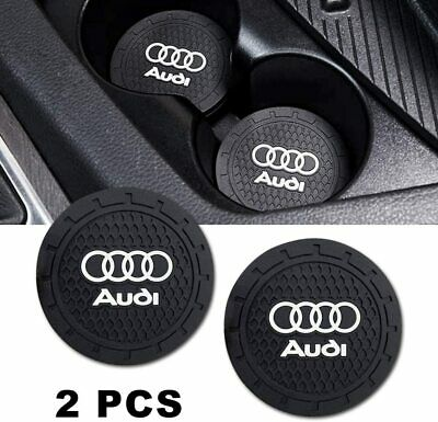 2X Audi Car Vehicle Water Cups Slot Non-Slip Look Mat Accessories • 4.99£