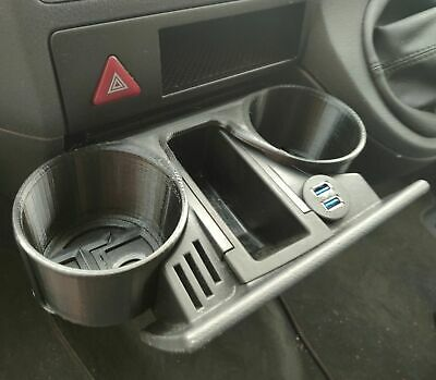 VW Transporter T5  T5.1 Cupholder Insert - Works Even On Broken Cup Holders • 28£