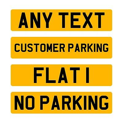 Single Rear Yellow Show Custom Plate Printed On A Number Plate NOT Road Legal • 12.99£