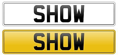 Pair Show Plates Custom Plates Front And Rear WITH BORDER! Not Road Legal • 19.95£