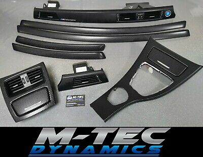 BMW E92 COUPE CCC Black 4D Glossy Carbon Interior Trim Set Door Finishers • 209.95£
