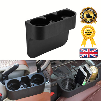 Black Dual Car Cup Holder Van Storage Drinking Bottle Can Mug Mount Stand UK • 7.45£