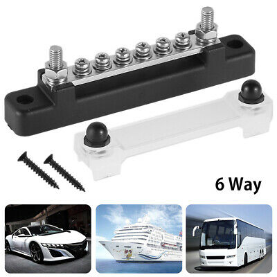 6 Way Bus Bar Auto & Marine Power Distribution Earthing Block 150A Rated 12 V UK • 9.99£
