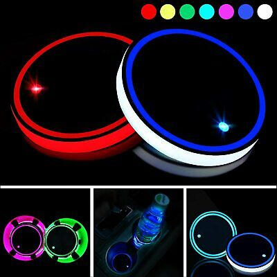 LED Coaster Car Cup Holder Pad Universal Interior 7color Light Atmosphere Lights • 3.99£