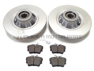 Vauxhall Vivaro Rear 2 Brake Discs Pads And Fitted Wheel Bearings Abs Rings New • 84.50£