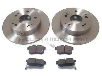 For HONDA CIVIC 1.6 EP2 + SPORT 2001-2006 REAR BRAKE DISCS AND PADS SET 5 STUD • 45£