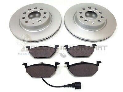 VW CADDY 2.0 SDi 1.9 TDi 2004-2011 FRONT 2 BRAKE DISCS AND PADS CHECK SIZE  • 47.99£