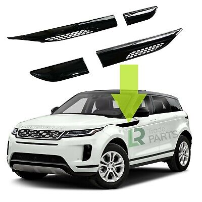 Range Rover Evoque Gloss Black Dynamic Side Wing Air Vents Upgrade (2011-2018) • 74.95£