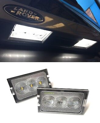 Land Rover Discovery 3 & 4 New Led License Number Plate Lamp Lights & Bulbs (x2) • 14.95£