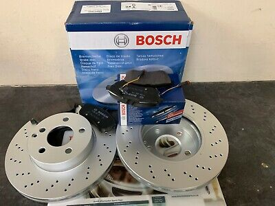 Mercedes C Class (204) 08-16 Front Disc Drilled & Pads**BRAND OE GENUINE BOSCH** • 129.99£