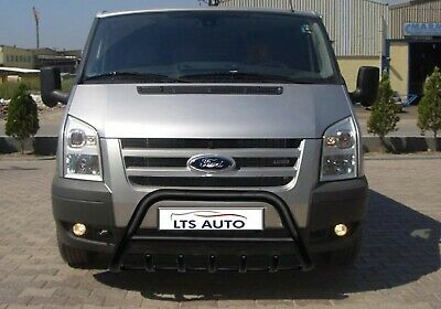Ford Transit Stainless Steel Black Axle Nudge A-bar, Bull Bar Guard 1995-2012 • 154.99£