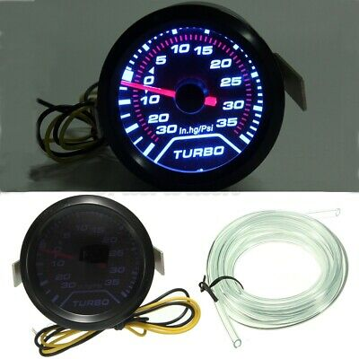 52mm Turbo Boost Pressure Pointer Gauge Meter Dials Smoked 30Psi LED • 15.34£