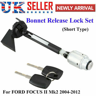 BONNET RELEASE LOCK LATCH CATCH COMPLETE For FORD FOCUS MK2 2004-2012 C MAX KUGA • 17.49£