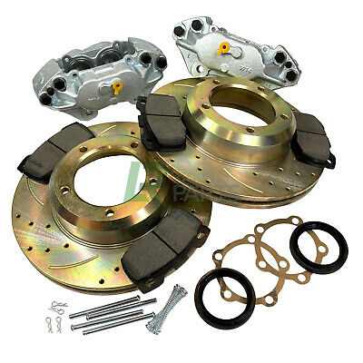 Defender 90 110 Front Vented Performance Brake Upgrade Kit Discs Calipers & Pads • 194.95£