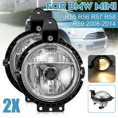 Front Left&Right Bumper Fog Light Lamps With Bulb For BMW Mini R56 R57 R58  • 45.99£