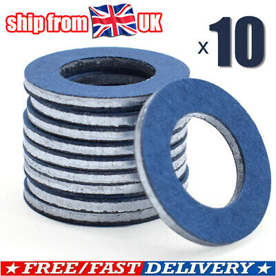 10X Sump Plug Washer Seal Ring Oil Drain Gasket Auto For Toyota Lexus 9043012031 • 5.95£