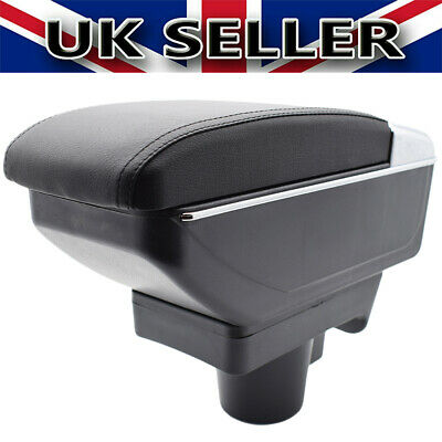 Armrest Sliding Black Dual Center Content For Vauxhall Opel Astra H 2004-2008 • 27.99£