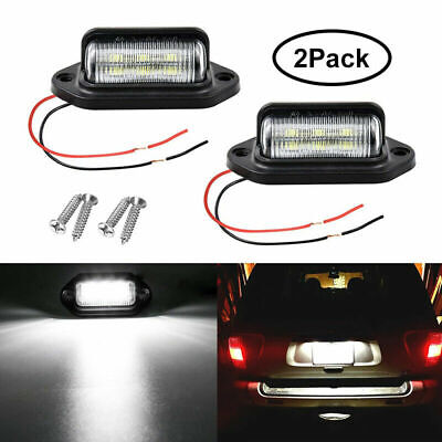 2X LED Universal License Number Plate Light Lamp For Car Truck SUV Trailer Lorry • 6.99£