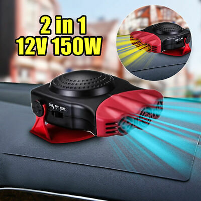Car Heater 12V Dash Mount & Hand Portable Hot & Cold Fan Defroster Demister 150W • 10.99£