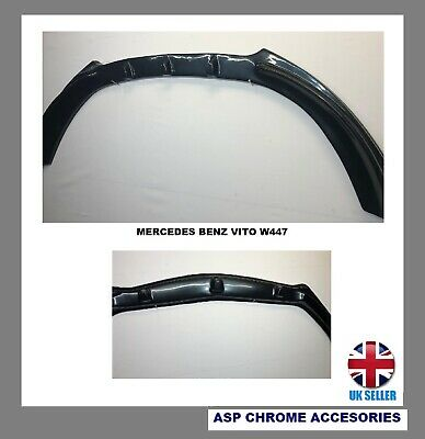 For Mercedes  VITO W447 Front Bumper Lip  Skirt Lower Spoiler Splitter ABS 2014> • 79.99£