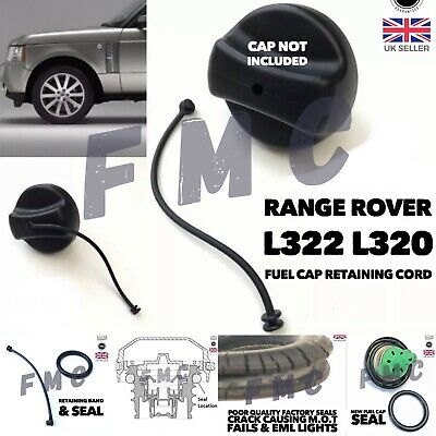 Range Rover Fuel Cap Seal & Retaining Band Tether Cord Strap SET L320 L322 • 14.95£