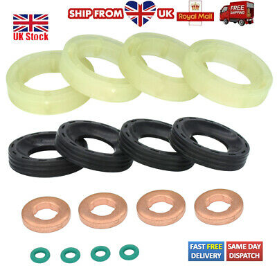 Set For Ford C-max Focus Fiesta 1.6tdci Fuel Injector Seal Washer Oring Kit  • 6.59£