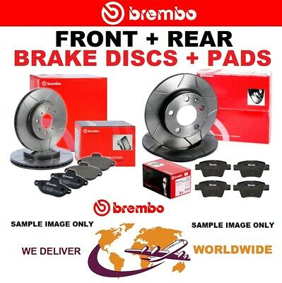 BREMBO FRONT + REAR DISCS + PADS For VW CADDY III Box 2.0 TDI 16V 2010-2015 • 205.99£