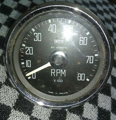 Smiths Square Numbered 8K Rev Counter - Classic Mini Etc • 139£